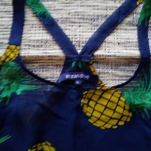 Ocean Drive Tops - Perfect Pineapple Tank for Summer